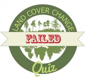 land cover quiz failed badge