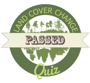 land cover quiz passed badge